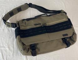 Brown utility shoulder bag