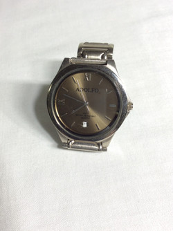 Adolfo Water Resistant Silver Watch