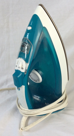 Blue and white plastic iron, functional