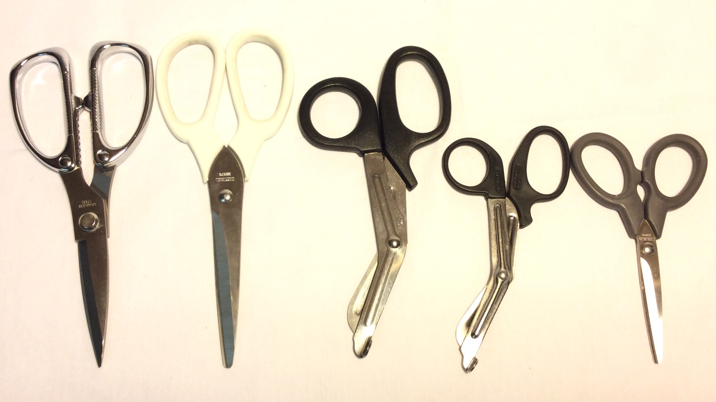 Assorted medical scissors