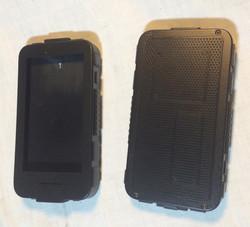 Large black futuristic phone case