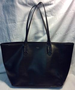 Black vinyl Ralph Lauren handbag