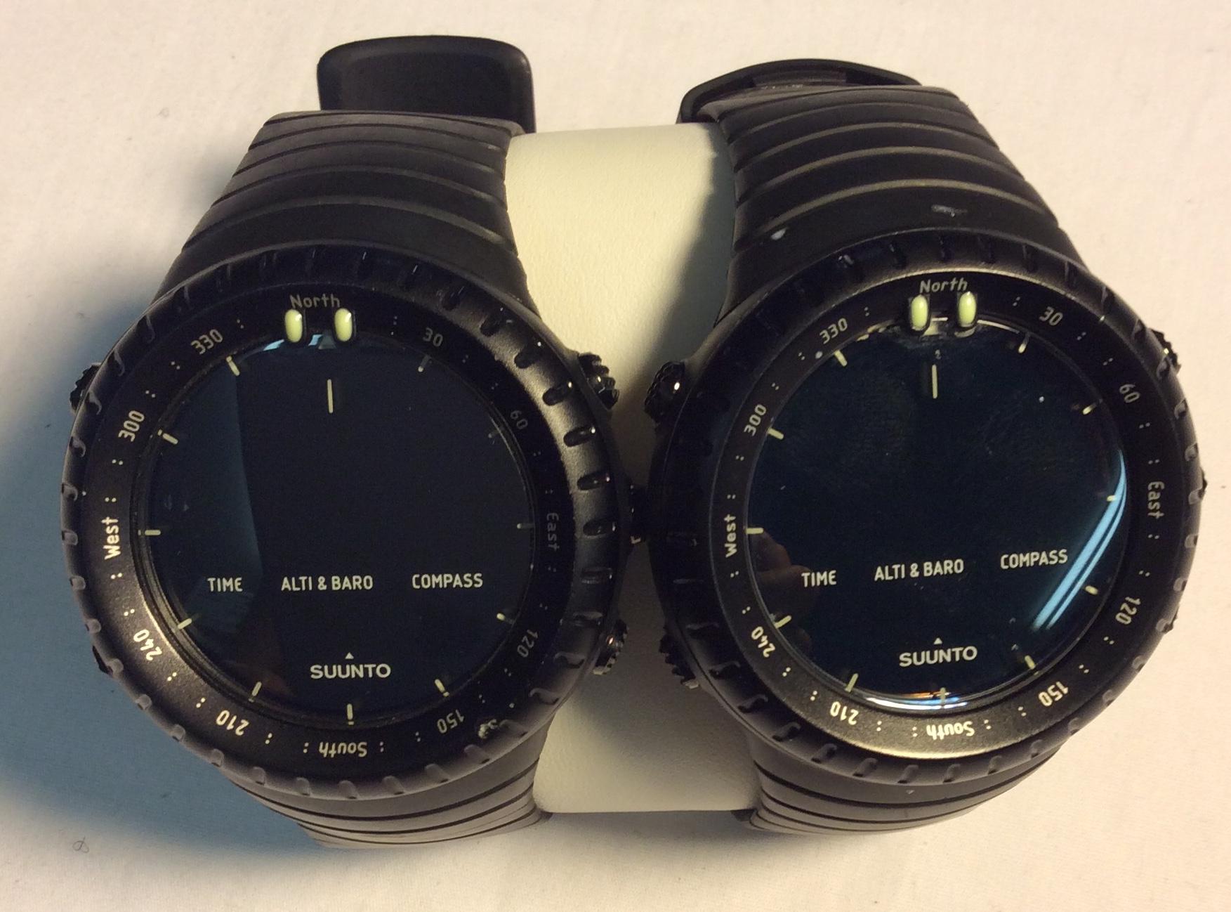 Suunto watch - round black digital