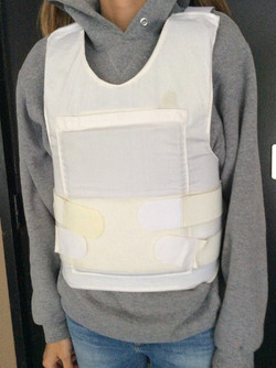 White fabric Body Armour carrier x2