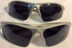 Half silver plastic frame sunglasses