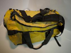 Yellow waterproof duffle bag