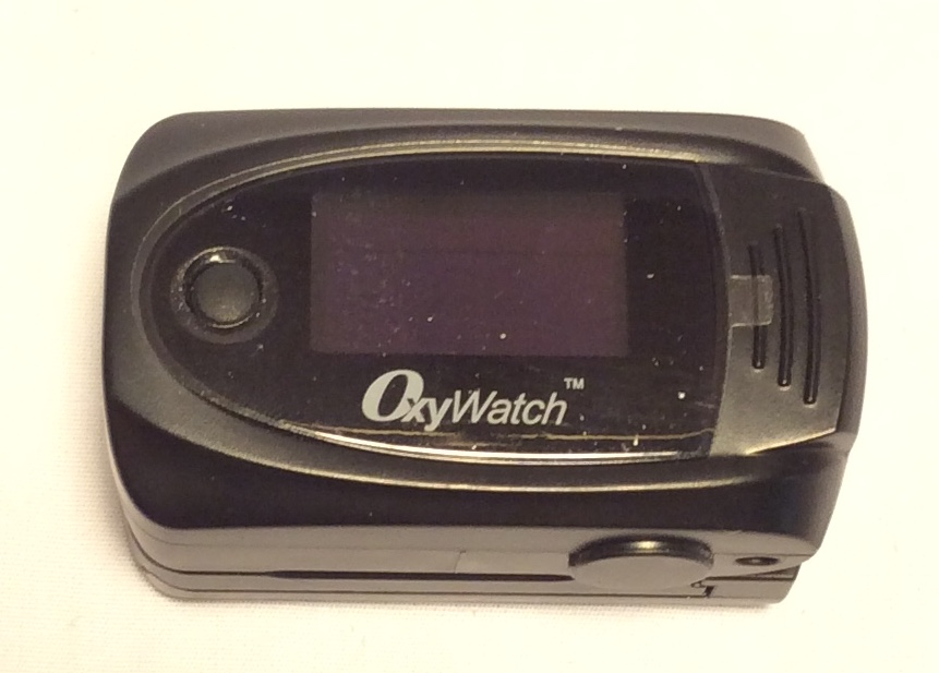 OxyWatch Black plastic electronic