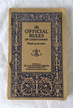 The Official Rules of Card Games book, vintage.