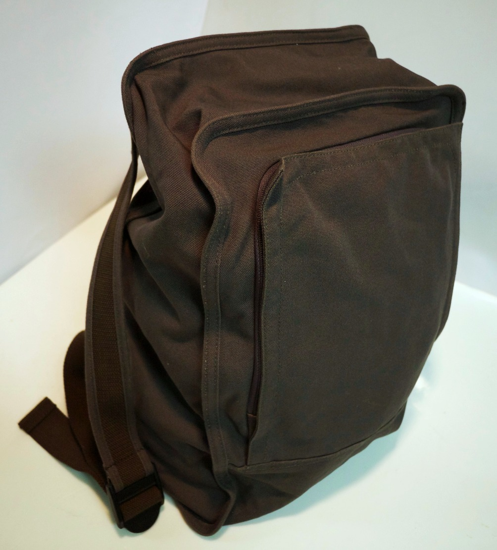 Grey Cloth Knapsack