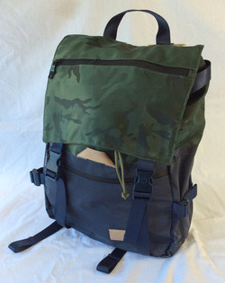Waterproof camo top blue school backpack