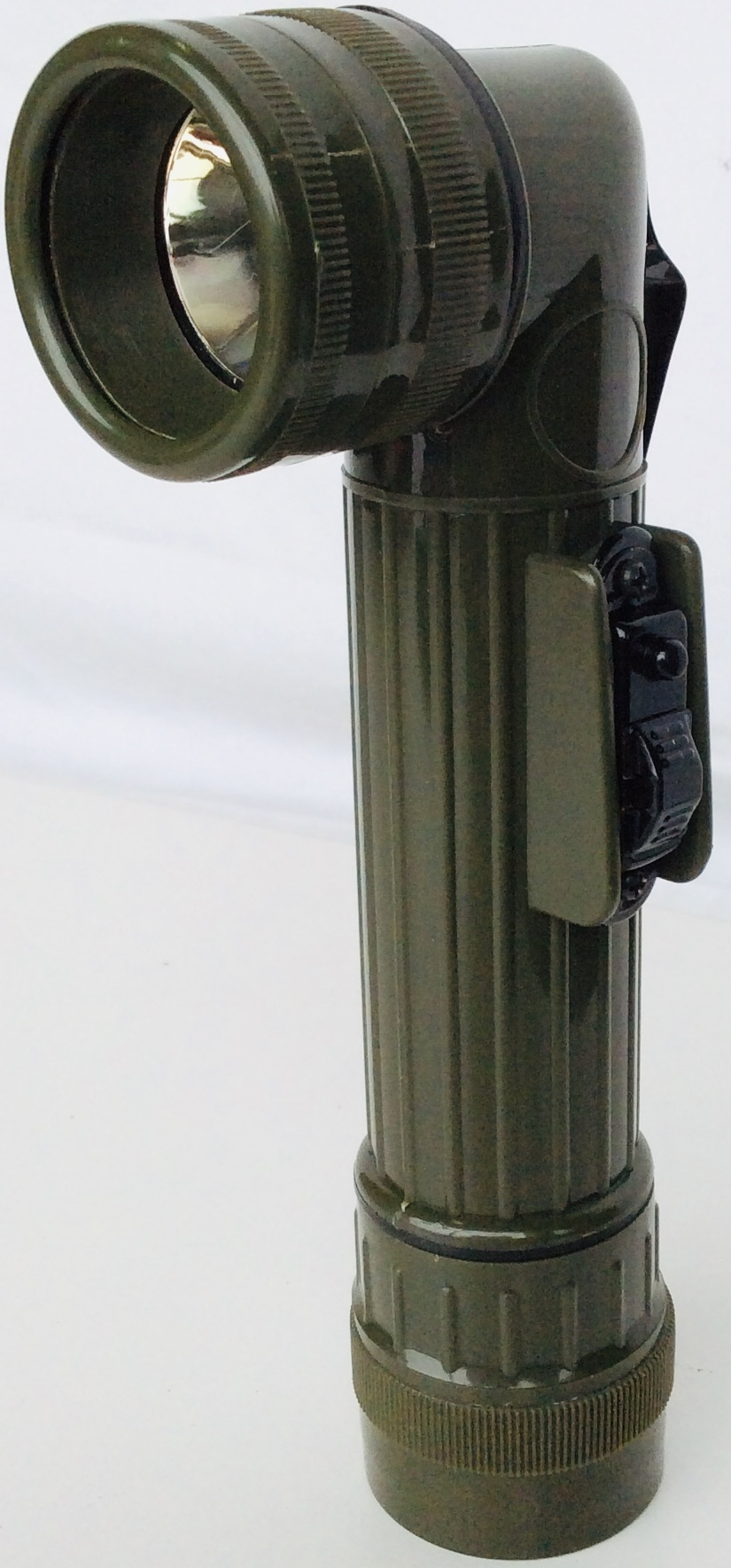 US Army Olive Green Right-Angle Torch Flashlight