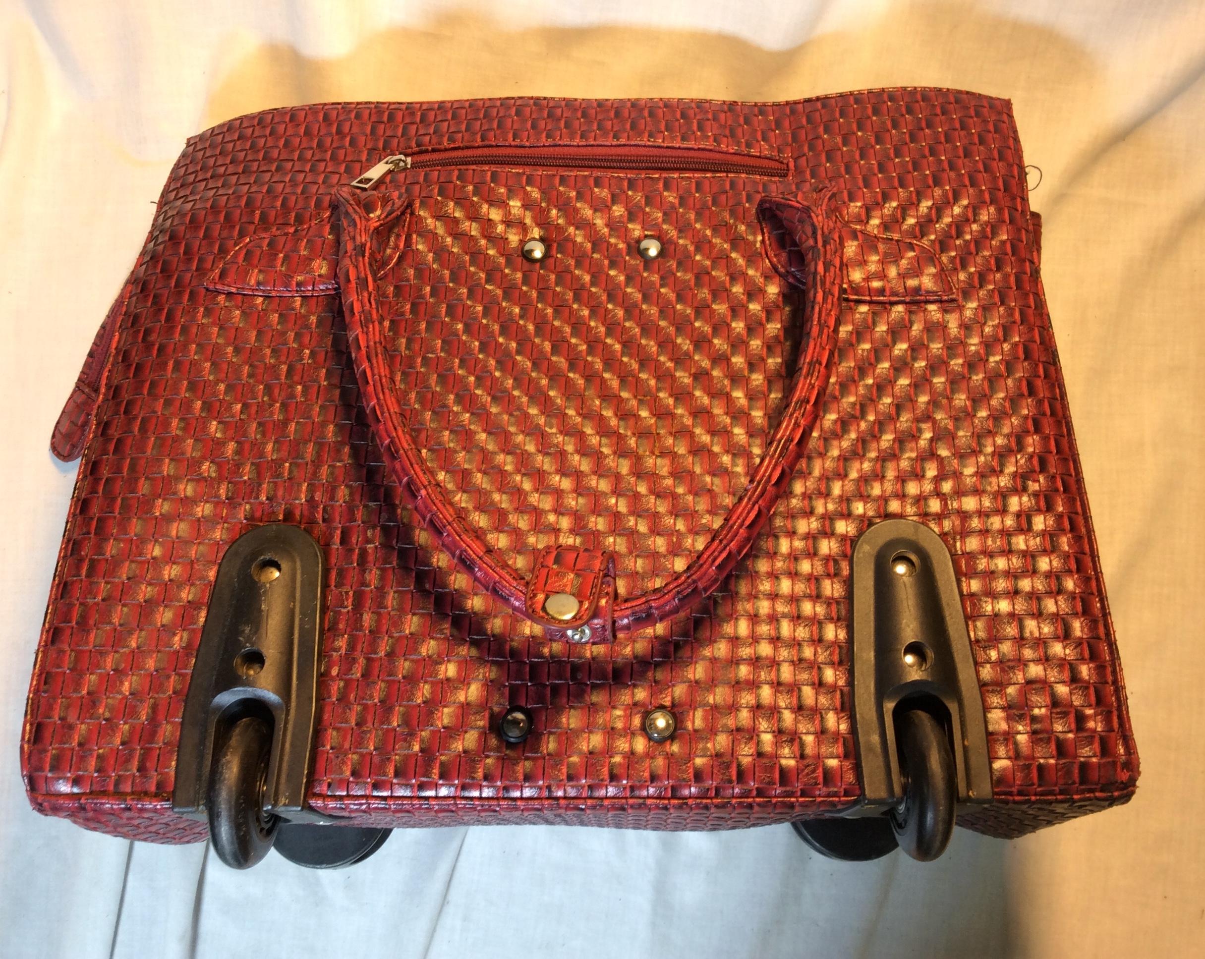 Pink Wheeled Handbag