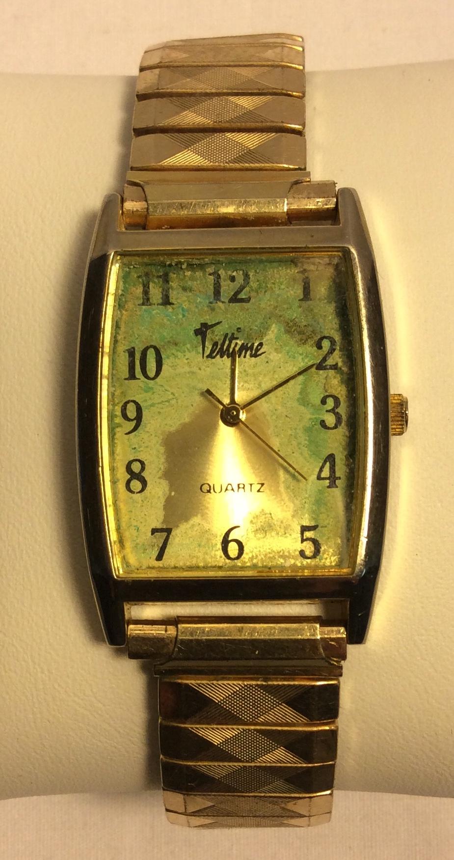 Telltime watch - Rectagular aged
