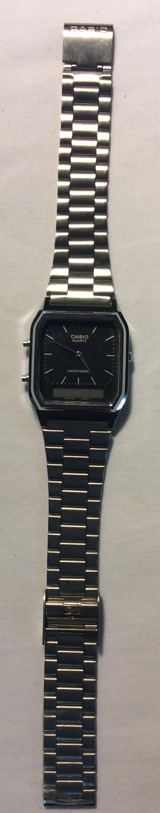 Casio watch - Black square face