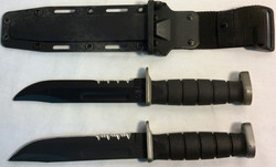 Kabar dark blade knife x2 real x9 rubber x3 sheath