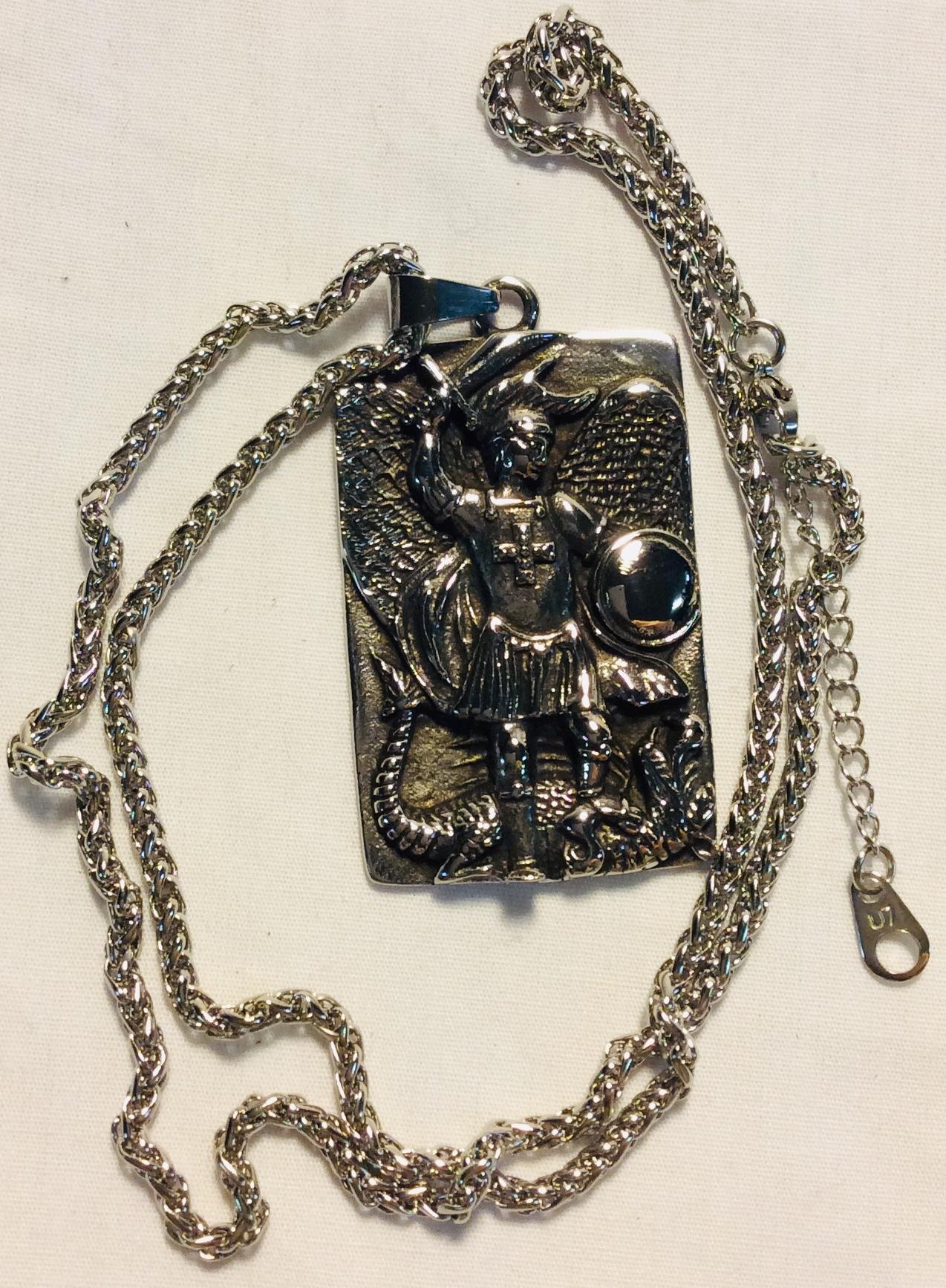Large square metal pendant