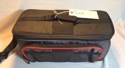 Silver and Black duffle bag