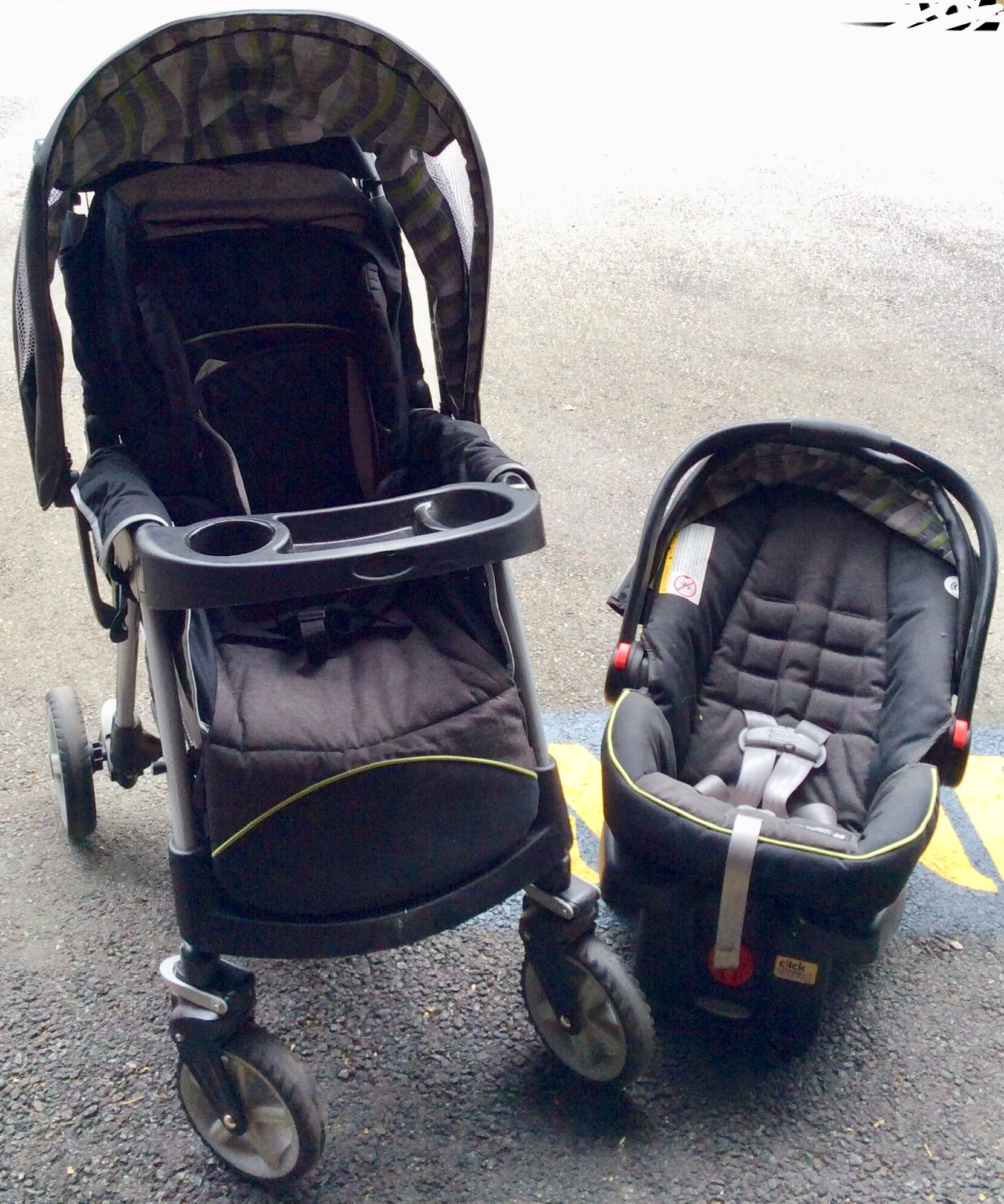 Baby Stroller with matching car seat.