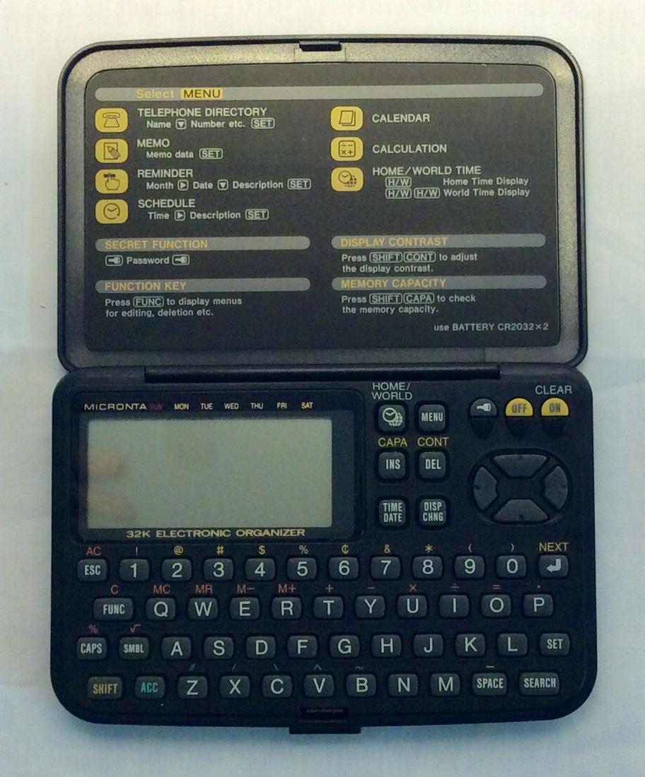 Micronta Black electronic organizer