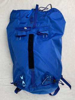 Blue weatherproof rucksack backpack