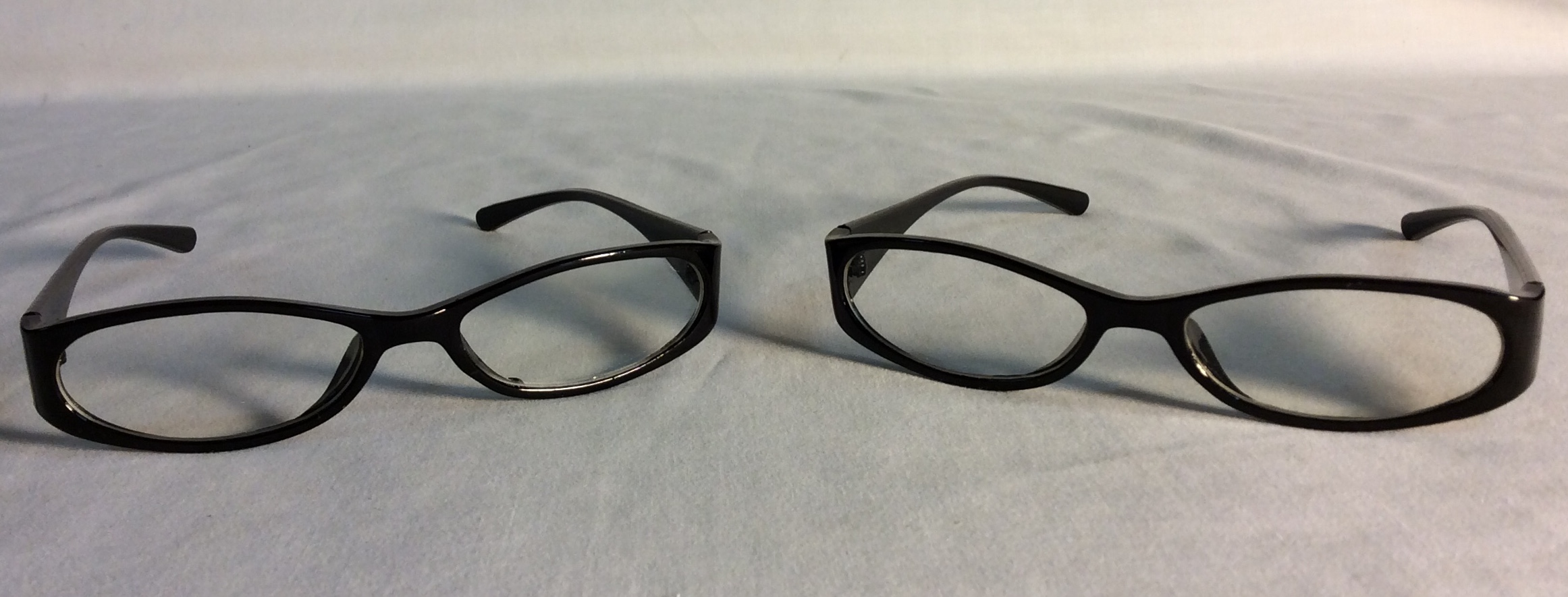 Black plastic eyeglasses