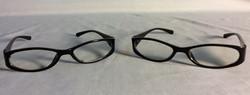 Black plastic eyeglasses