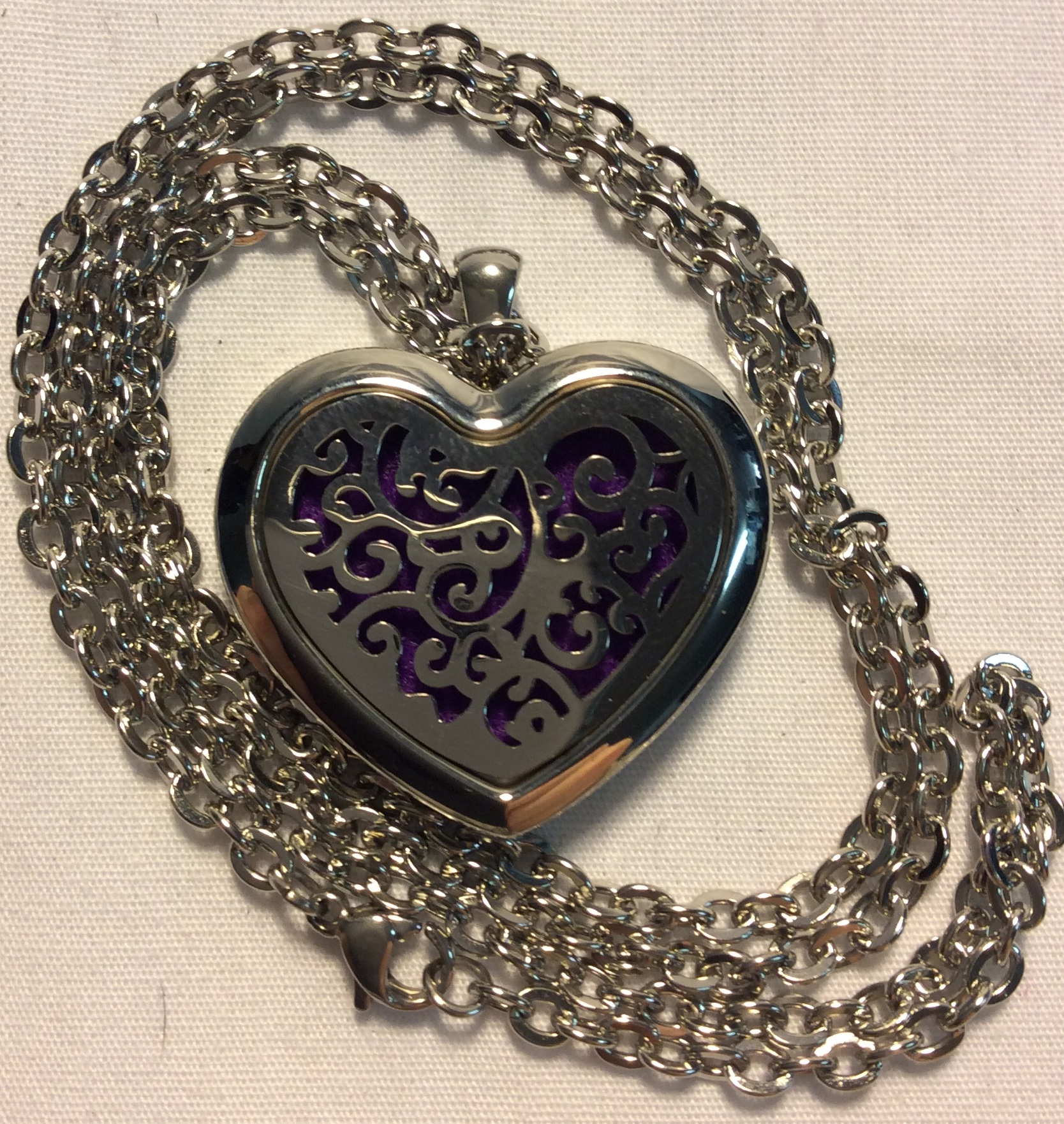 Large Silver Heart Locket