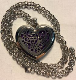 Large Silver Heart Locket