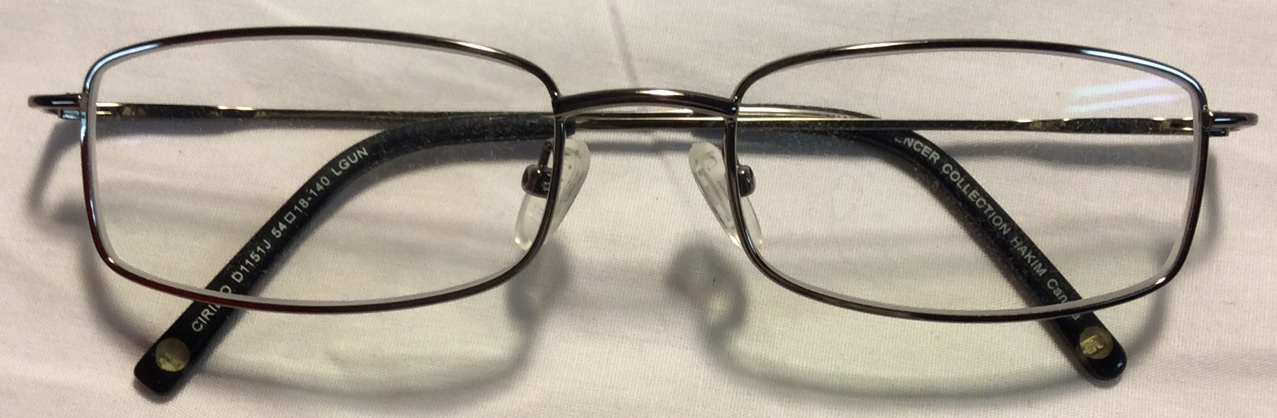 Hakim Thin silver metal frames, grey