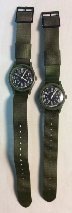 Military watch - round black face