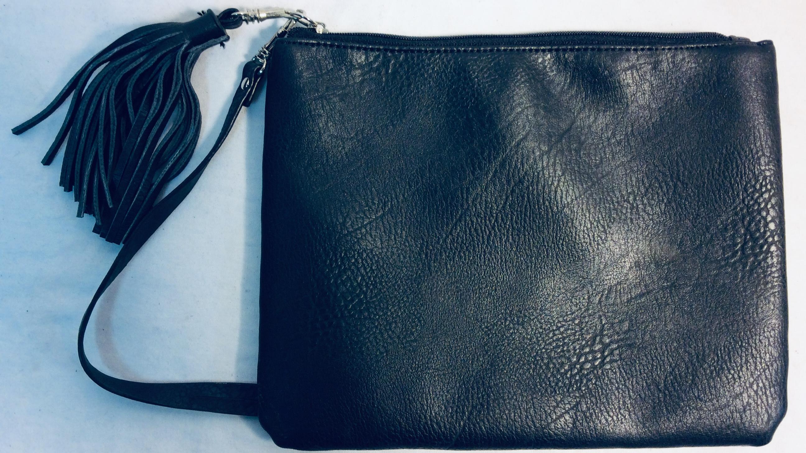 Women's black clutch purse