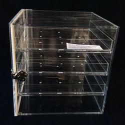 Labratory glass sample cabinet