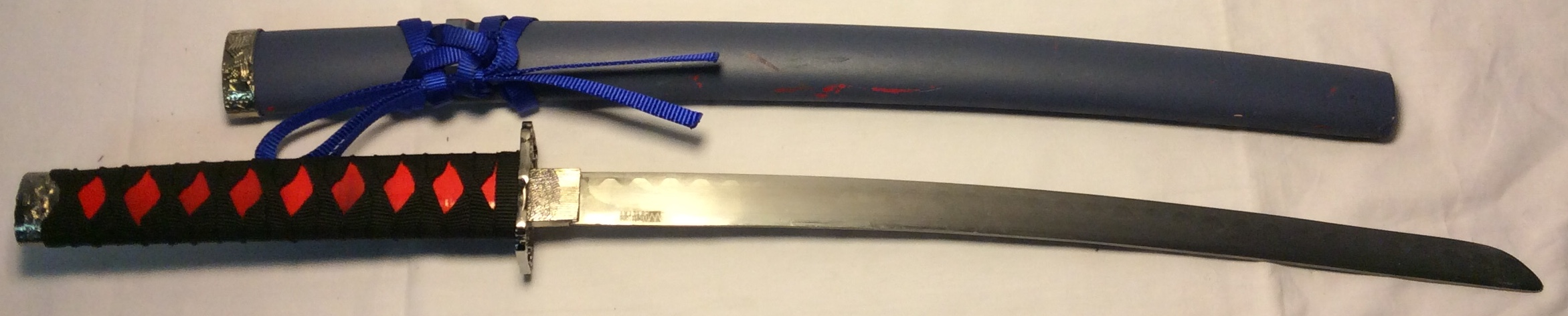 Wakizashi sword with Blue Saya