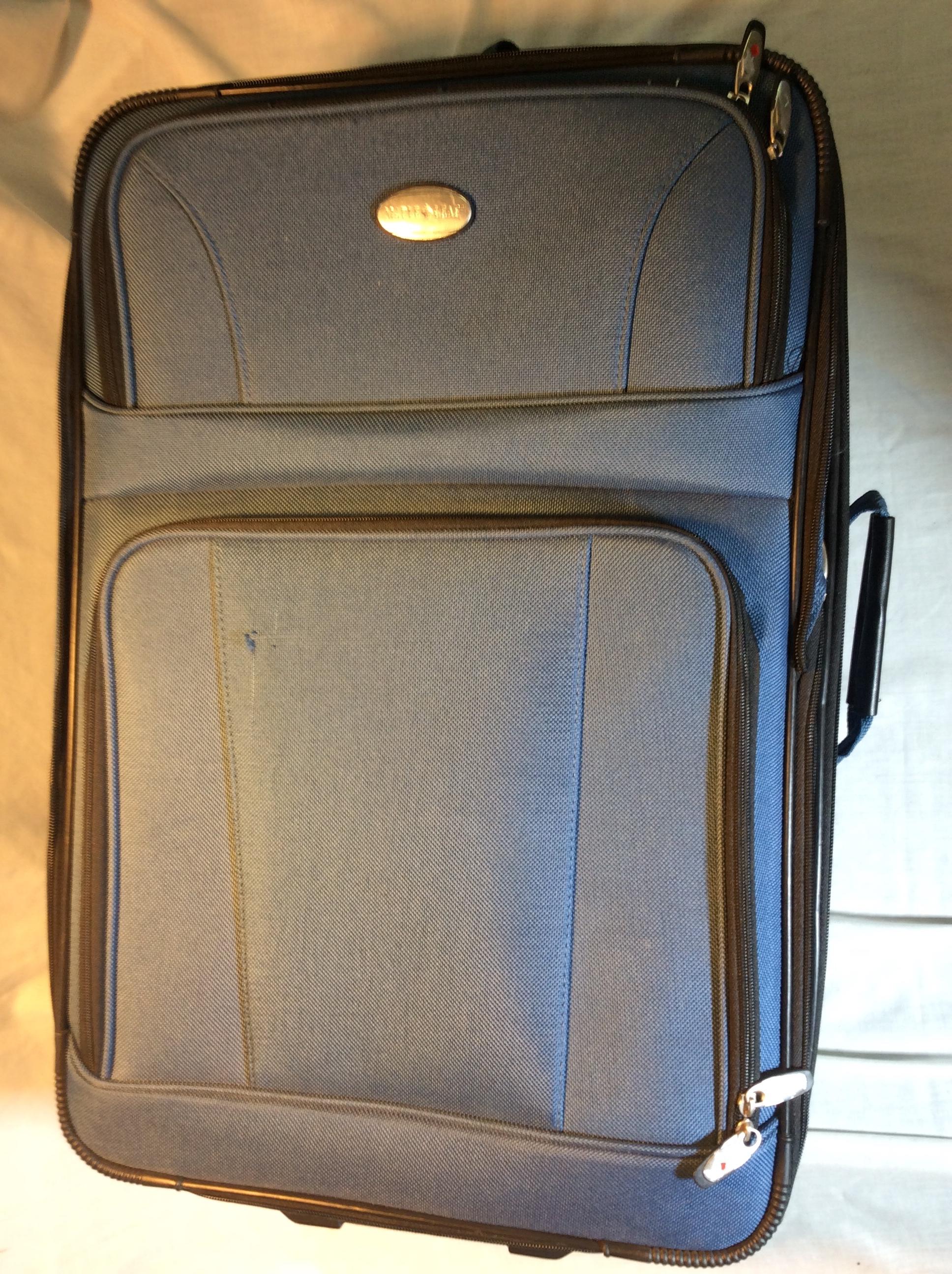 Blue Wheeled Suitcase