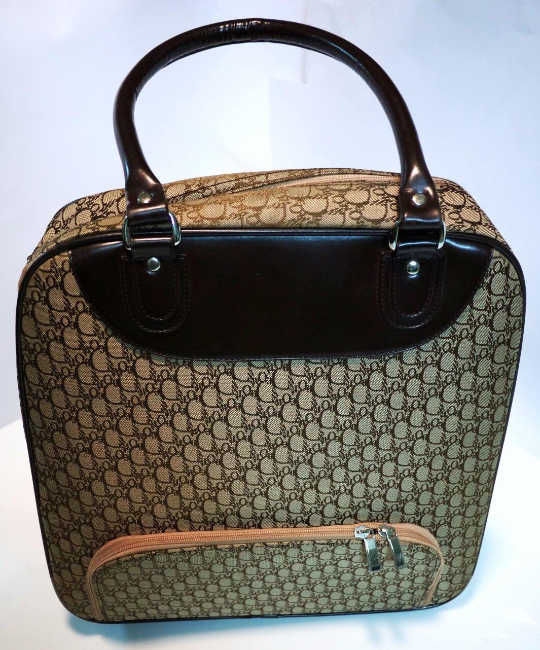 Gold and Brown Handbag