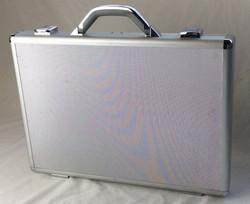 Silver hard shell briefcase
