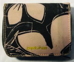 Dakine Black wallet with pink flower