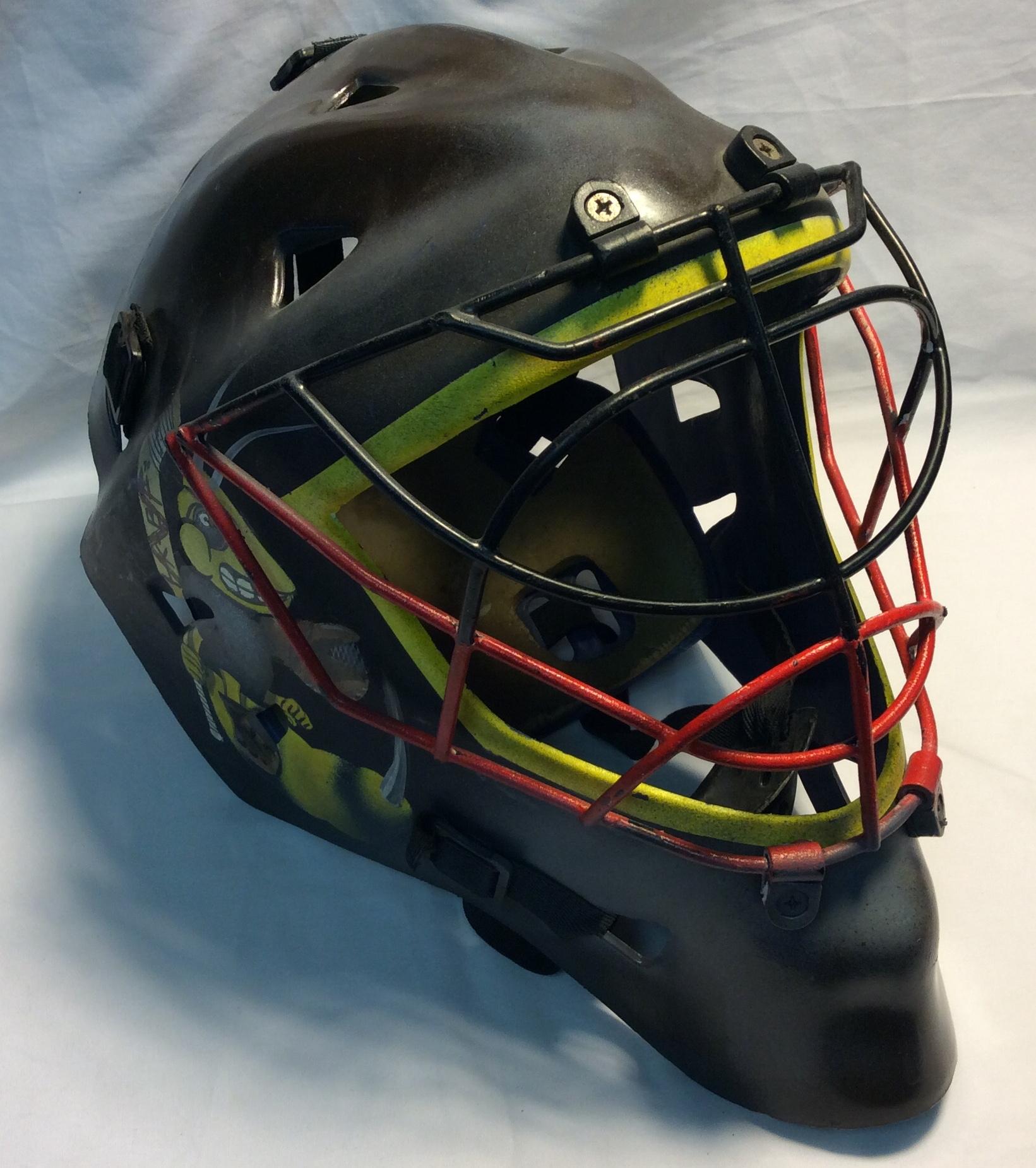 Brown Plastic Hockey Goalie mask