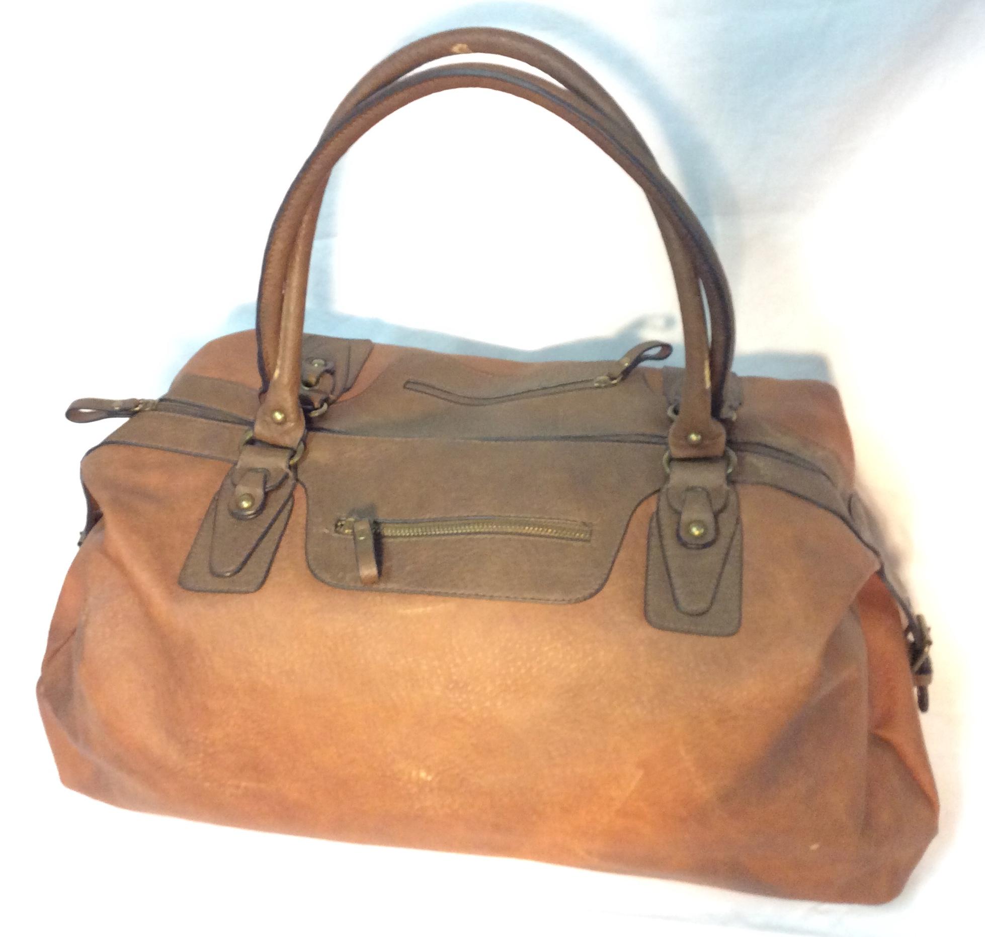 Bueno Brown leather Bueno travel bag