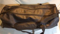 Black Leather Duffel/Overnight Bag