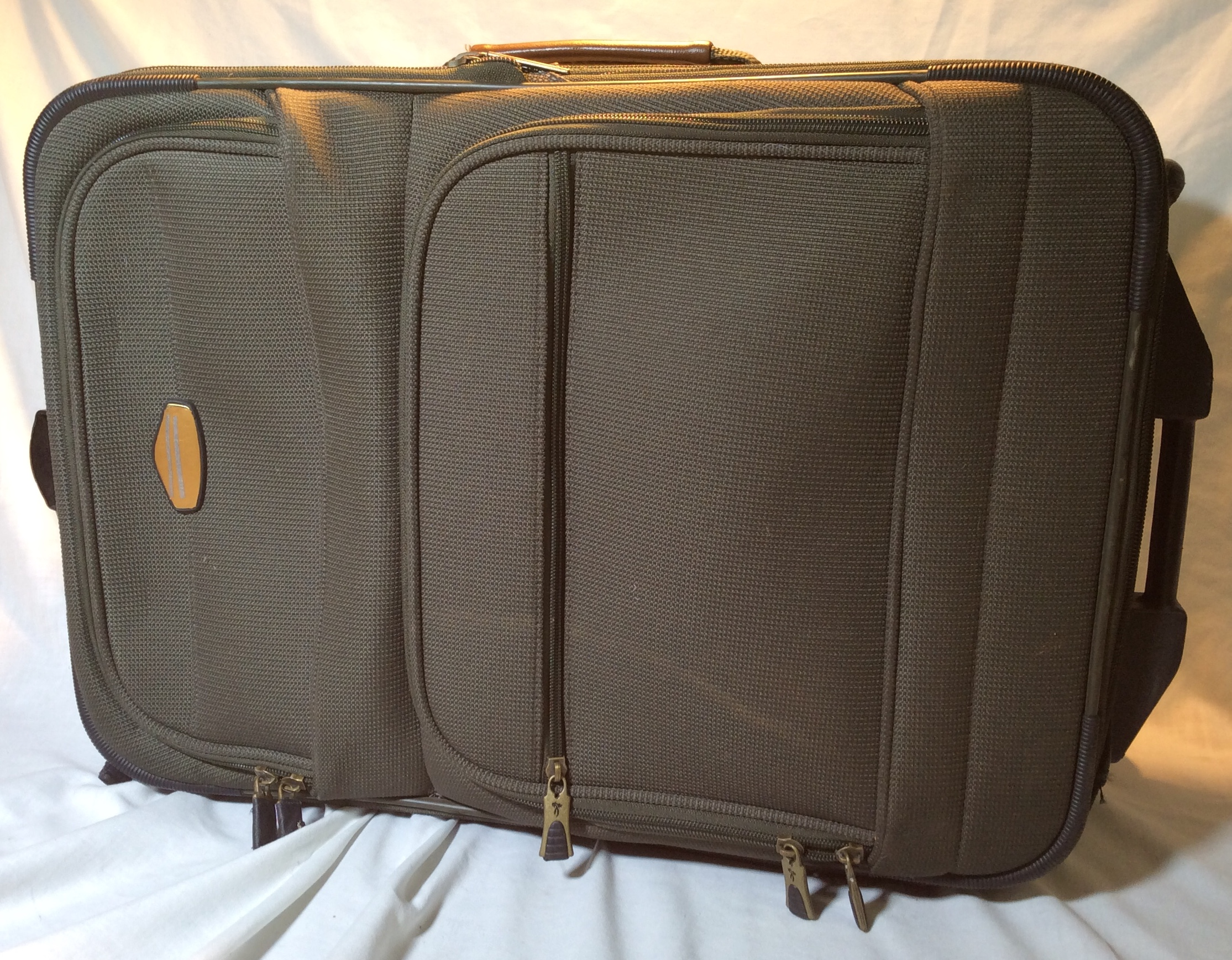 Small Wheeled Green Suitcase