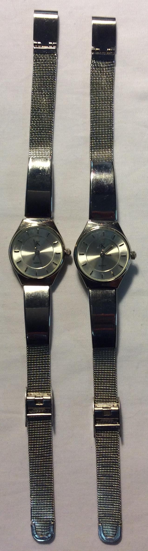 GK watch - round silver face, silver
