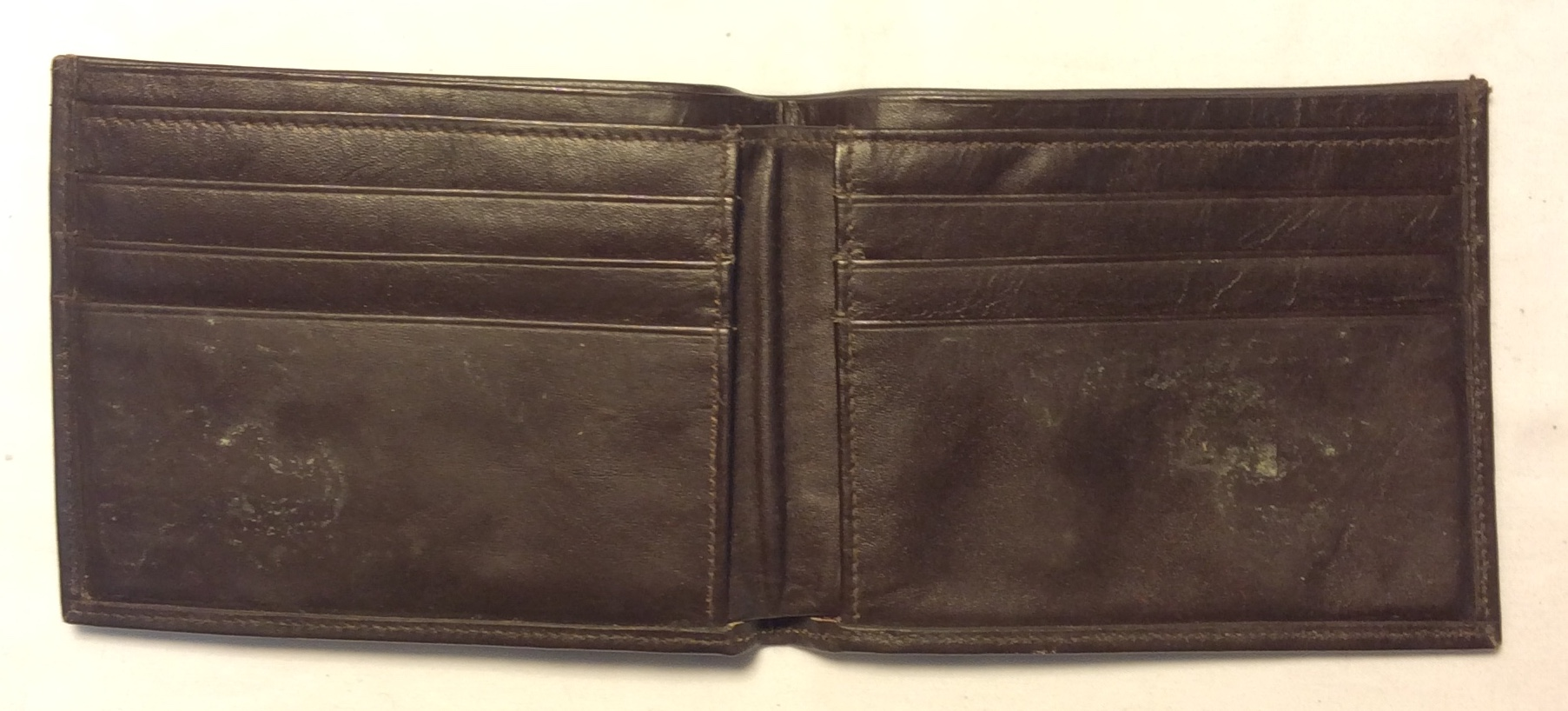 Dark brown leather with fade