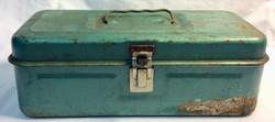 Aged green small tool box
