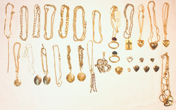 Assorted Gold chains/necklaces