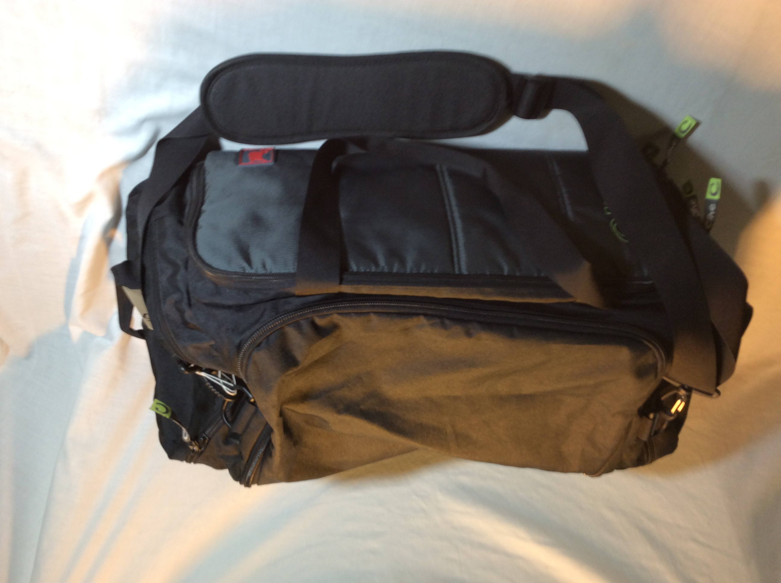 Grey & Black Duffle Bag