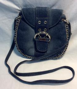 Small blue denim purse