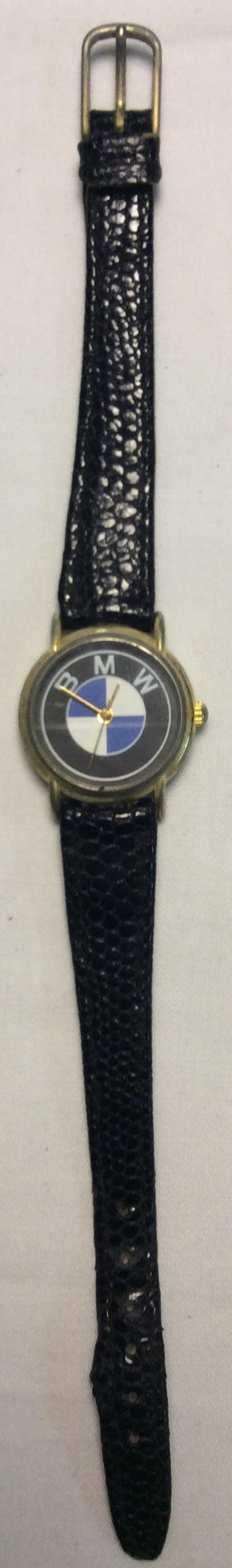 BMW watch - round black face