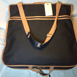 Beige and Black Garment Bag