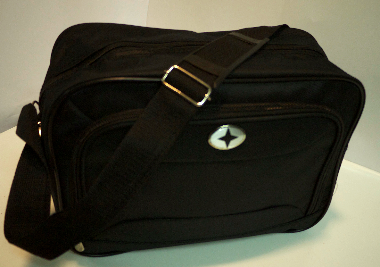 Small black travel bag